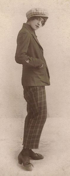 1920's Woman Dressed As A Man