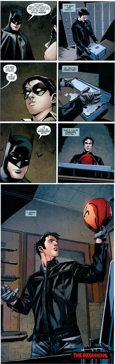 Batman warning Robin about the Joker -No Joker in the strip, but all about him. Jason Todd is one of my favorite characters....
