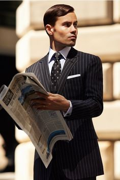 Pinstripes. Old School Masters of the Universe Wallstreet!!! If only it was born in 1965 and not 1983! ~CZ~