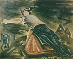 Josef Capek; One of Capek's last paintings (1939) - a dire vision of things to come,