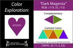 Eva Maria Keiser Designs: Explore Color: Dark Magenta - RGB 119,35,115