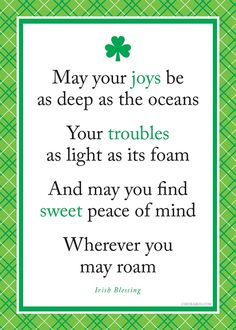 Irish blessing - Happy St Patrick's Day!