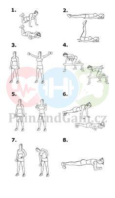 ▷ Příklad cvičebního plánu na hubnutí doma 2020   PainAndGain.cz Workout, Work Outs