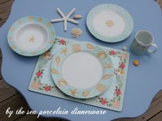 By the Sea dinnerware Delicate porcelain and fragile shells - the perfect pair. For the love of coastal