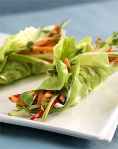 Crunchy  Lettuce Wraps