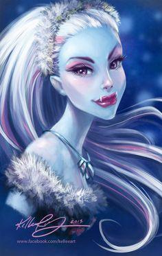 Monster High Abbey Portrait by *KelleeArt on deviantART