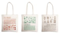 combination shopping list and recipe on your take-to-the-grocery-store canvas tote bag... handy, multipurpose, and oh-so-cute