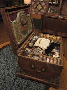 The Trunk is an enchanted storage box which is home to the Beauchamps magical Items, including. Magic Box, Witches Of East End, Witch Spell, Ideias Diy, Witch Aesthetic, Witch House, Practical Magic, Creation Couture, Kitchen Witch