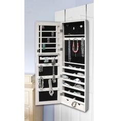 New View Jewelry Cabinet with LED Light - BedBathandBeyond.com