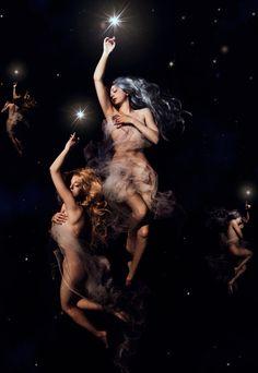 """""""Stars hanger"""" by himitsuhana Inspired by Luis Ricardo Falero's artworks."""