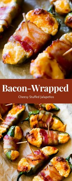 Bacon-Wrapped Cheesy Stuffed Jalapeños #christmas #dinner | Liane Kitchen