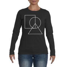 Women's Long Sleeve Peace T-Shirt Love Clothing, Peace And Love, Long Sleeve Tees, T Shirts For Women, Clothes, Outfits, Clothing, Long Sleeved T Shirts, Long Sleeve Tee Shirts