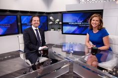 Xait appearing on the set of Worldwide Business with kathy ireland®