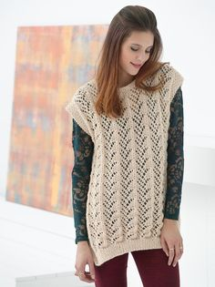 Fan Lace Tunic in Lion Brand Pound Of Love - L32215B. Discover more Patterns by Lion Brand at LoveKnitting. The world's largest range of knitting supplies - we stock patterns, yarn, needles and books from all of your favorite brands.