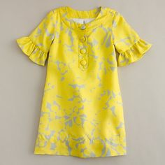 mod little party dress, J. Crew, yellow and grey, flower girl party dresses aundrea_scentsy African Dresses For Kids, Girls Party Dress, Little Girl Dresses, Flower Girl Dresses, Party Dresses, Flower Girls, Kids Frocks Design, Baby Frocks Designs, Mode Batik