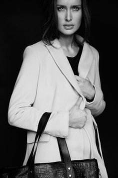 Tailored coat and textured leather bag, all Carolyn Donnelly The Edit Tailored Coat, Leather Bag, What To Wear, Women Wear, Dressing, Fashion Design, Shopping, Collection, Tops