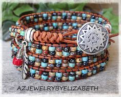 Hey, I found this really awesome Etsy listing at https://www.etsy.com/listing/524629366/mens-wrap-bracelet-southwestern-leather