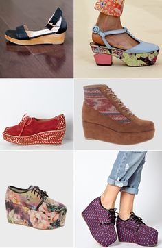 flatforms via Justina Blakeney - i may just be able to walk in these for some height =)