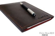MONOGRAM+Ipad+mini+BROWN+and+RED+Premium+Napa+leather+by+PicasoLab,+$62.00
