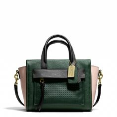 Coach :: BLEECKER MINI RILEY CARYALL IN MIXED MEDIA LEATHER. So what if it's a Celine knock-off, it's adorable.
