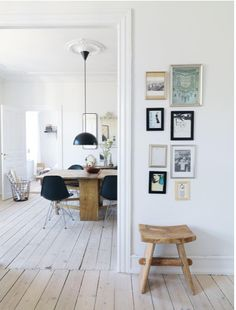 white floors via Inspiring Home