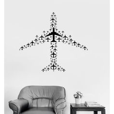 Vinyl Decal Airplane Flight Airport Aircraft Travel Wall Sticker Mural... ❤ liked on Polyvore featuring home, home decor, wall art, airplane wall art, airplane wall decals, vinyl wall stickers, vinyl decal stickers and airplane wall stickers
