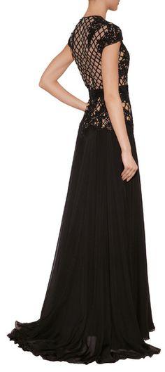 Khaleesi style evening dress ZUHAIR MURAD Silk Blend Gown with Beaded Overlay $ 8,445