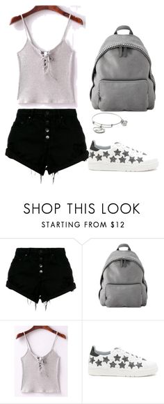 """""""Untitled #55"""" by evelinefeitosaneres on Polyvore featuring Nobody Denim, STELLA McCARTNEY, WithChic, Chiara Ferragni and Alex and Ani"""