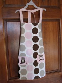 Child Circle Apron With Owls by WhatItSeams on Etsy, $14.00