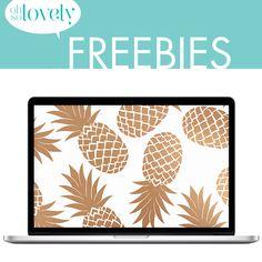 Oh So Lovely: Free Glam Pineapple Desktop Wallpaper