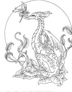 Image result for free fantasy coloring pages for grown ups