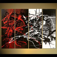Modern Abstract Painting Original Abstract Art by OsnatFineArt