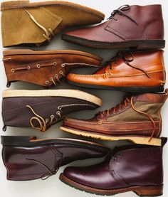 ::STYLE:: Fall Trend 2013 - step up your boots game! Darker hues equals dressier. Dark chocolate complements a navy suit. Lighter shades of brown works well with dark casual chinos. A colorful or white sole grounds a casual look perfectly and makes for a great pop of color. -Ngowo