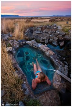 Summer Lake Hot Springs in Paisley Oregon.