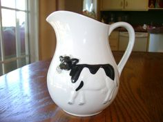 Vintage Cow Pitcher collectable by KitchenQueenVintage on Etsy, $24.00
