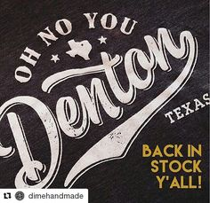 This best-selling tee is back in stock  @dimehandmade ! Come snag yours while you can! We\'re open \'til 6pm tonight but closed Sunday  Monday.  #denton #dentontx #dentonslacker #dentonite #thedentonite #doingitdenton #lild #dentoning #ohnoyoudenton #DiscoverDenton #wddi #wedentondoit #wearedenton