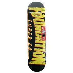 "Foundation Thrasher Black Skateboard Deck 8"" ($45) ❤ liked on Polyvore featuring skateboard"