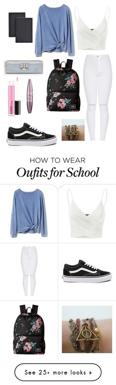 """""""School ☹️"""" by i-love-food-24 on Polyvore featuring Gap, Doublju, Vans, Universal, Ted Baker and Maybelline"""