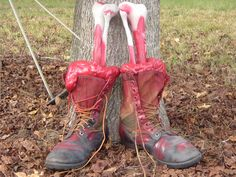 Nice idea for the hubby's old work boots