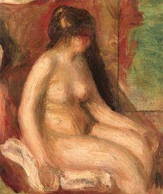 Female Seated Nude (Pierre Auguste Renoir) c.1900