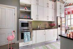 Un apartamento muy original decorado por niños. Cocina 2.