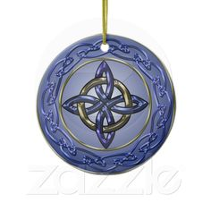 Eternity Knot Tree Ornament Circle
