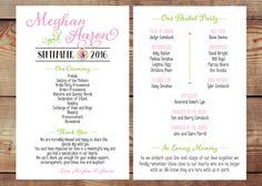 Custom Printable Double-Sided Wedding Program by BlushAndBliss