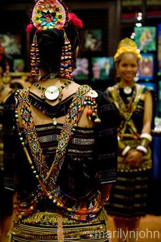 Traditional Rungus Costume, Sabah, Malaysia