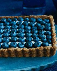 Honeyed Yogurt and Blueberry Tart with Ginger Crust Recipe