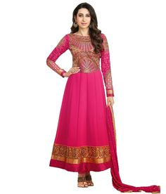 Party Wear Dresses Maroon Embroidered Faux Georgette Dress Material, http://www.snapdeal.com/product/party-wear-dresses-maroon-embroidered/1642716630