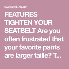 FEATURES TIGHTEN YOUR SEATBELT Are you often frustrated that your favorite pants are larger taille?This studless snap can help. Just tie the buttons together to tighten the belt, and you can fall in love with your pants again. LARGELY USED This button can be applied for jeans, skirts, pants, collars, etc., also suitab