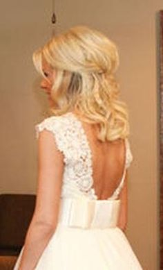 half up hair for bride