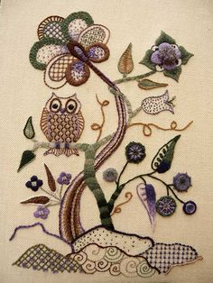 Jacobean Crewelwork by RSN Student Audra Christie