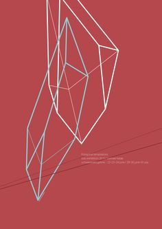 Toshiaki Hatae - JAGDA Hokkaido Poster Exhibition. 2nd cut of Octahedron, 2014